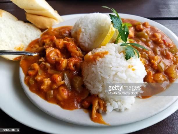 Plate of Cajun Crawfish Etouffee