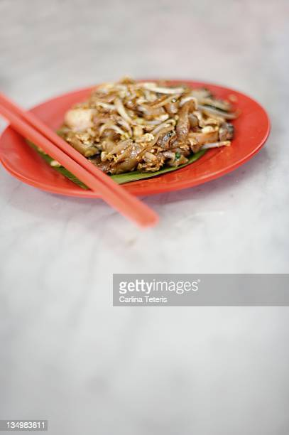 Plate of char kway teow