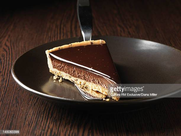 Plate of chocolate tart