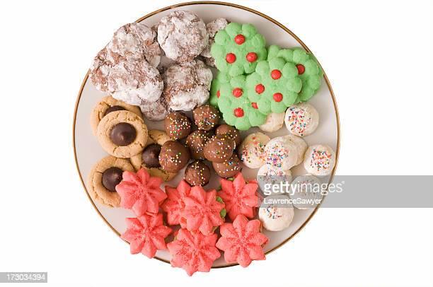 Teller Weihnachten Kekse
