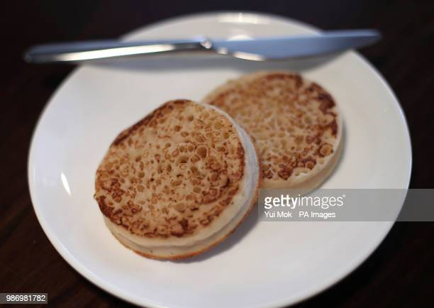 A plate of crumpets as they become the latest casualty of the carbon dioxide shortage which is hitting production throughout the UK's food and drink...