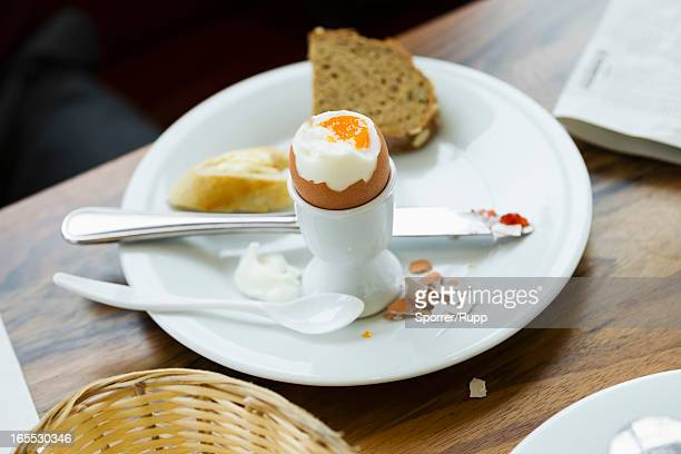 Plate of egg and toast