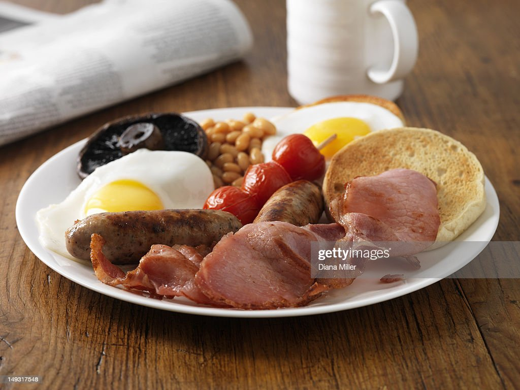 Plate of English breakfast : Stock Photo