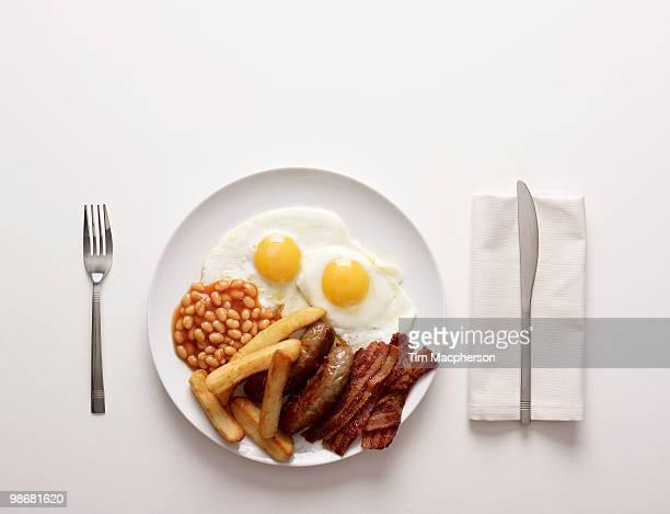 A Plate of fried Breakfast