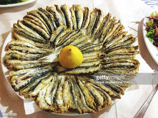 Plate Of Fried Sardines
