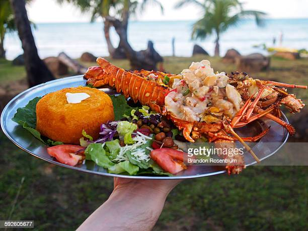 Plate of lobster in Puerto Rico