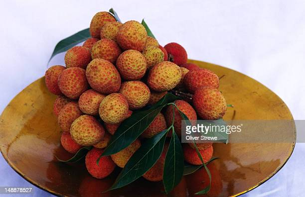 Plate of lychees.