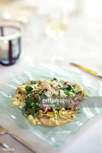 Plate of nouvelle cuisine