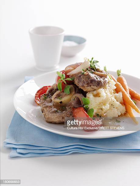 Plate of osso buco stew