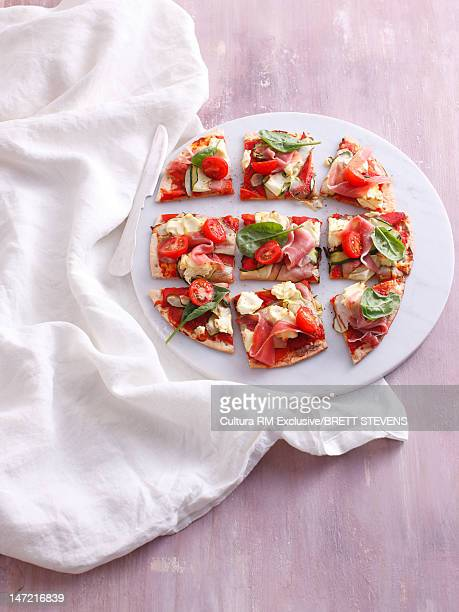 Plate of pizza with toppings