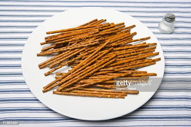 Plate of pretzels