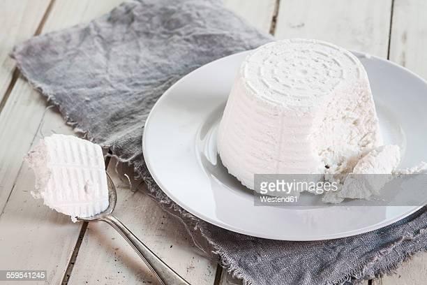 Plate of ricotta