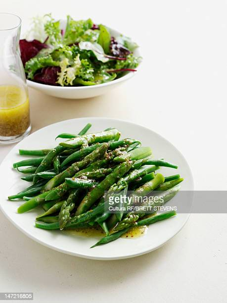Plate of roasted asparagus