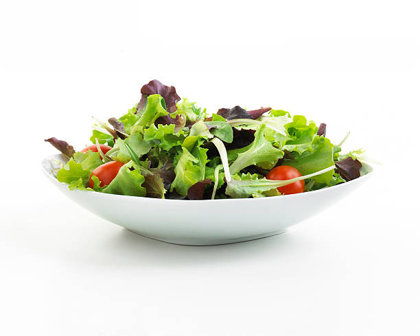 plate of salad - salad stock pictures, royalty-free photos & images