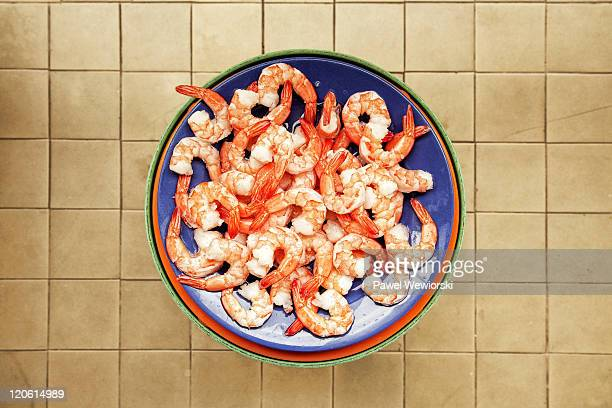 Plate of shrimps