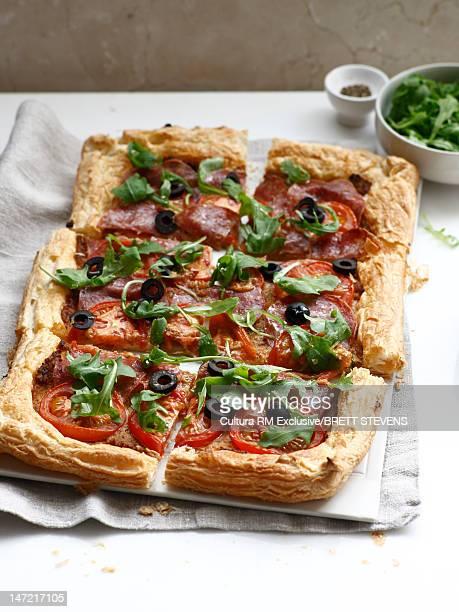 Plate of vegetable tart