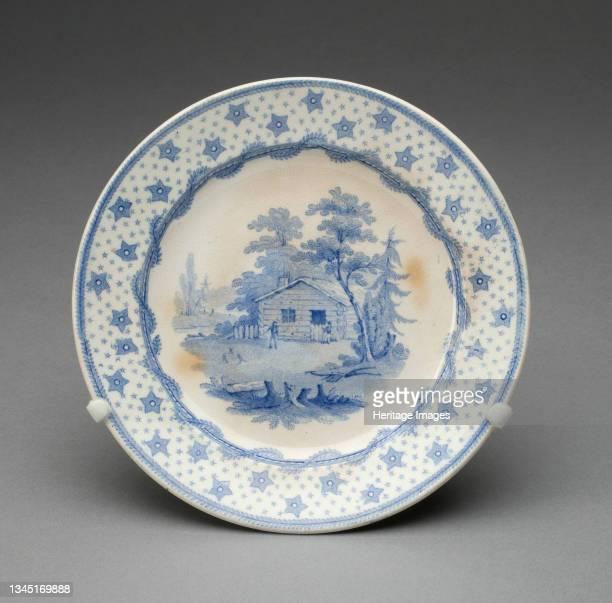 Plate, Staffordshire, Mid 19th century. Artist Staffordshire Potteries.