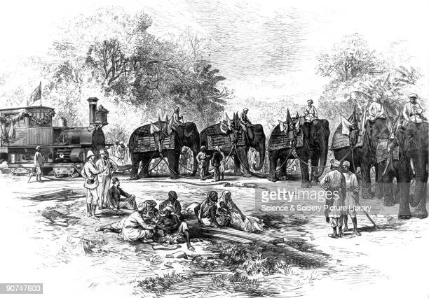 Plate taken from the �Illustrated London News� The first railway on the Indian subcontinent constructed in 1853 ran a stretch of 21 miles from Mumbai...