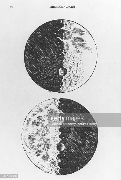 Plate taken from the Venice edition of 'Sidereus Nuncius' a book of astronomical theory and observations by Galileo Galilei Galileo was an Italian...