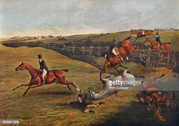 'Plate V Grand Leicestershire Steeplechase 1829' After Henry Thomas Alken From British Sporting Artists From Barlow to Herring by Walter Shaw...