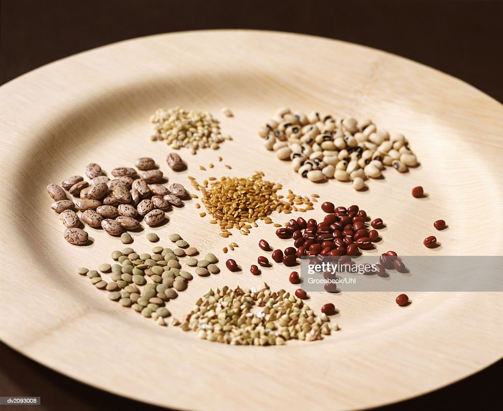 Plate With a Variety of Beans : Stock Photo