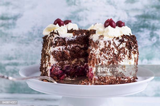 Plate with Black Forest Cake