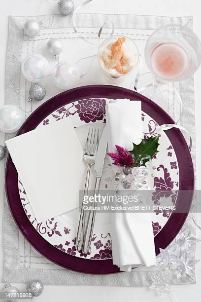 Plate with decorative napkin