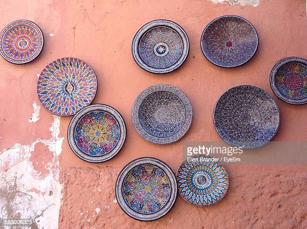 Plate With Handicraft Displayed On Wall