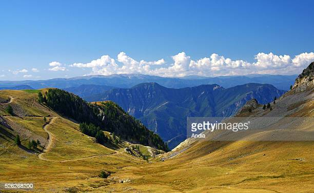 Plateau in the surrounding area of the lakes of Millefonts in the AlpesMaritimes department Mountainous landscapes
