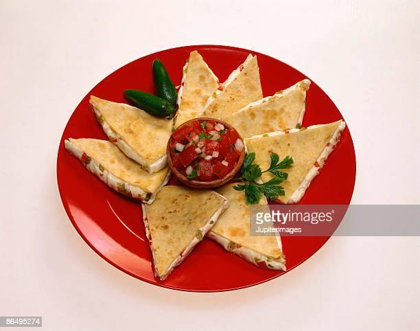 Plateful of quesadillas