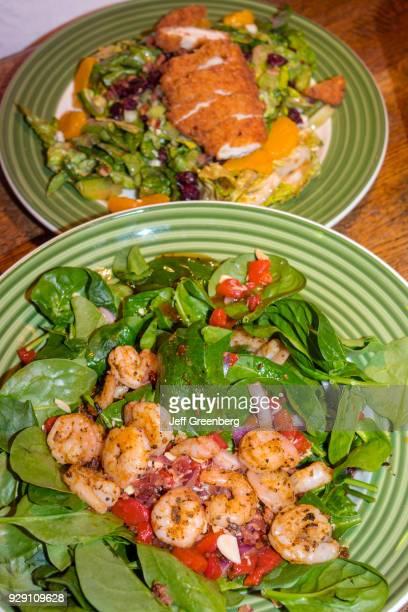 Plates of food from Applebee's restaurant