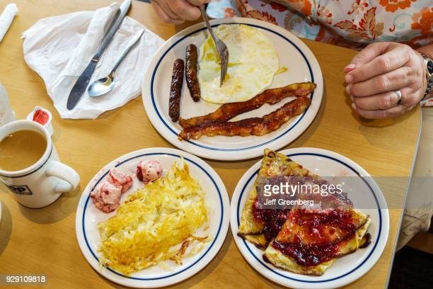 Plates of food from IHOP in Naples Florida