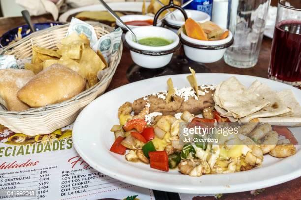 Plates of food from La Casa de los Abuelos restaurant