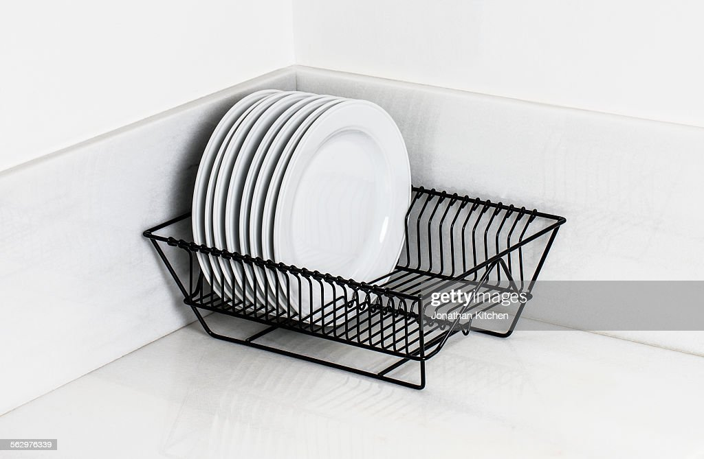 Plates Racked up & Dish Rack Stock Photos and Pictures | Getty Images