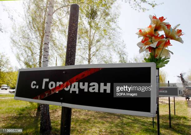 Plates with the names of 162 abandoned and evacuated villages, as a result Chernobyl disaster, are seen in a memorial complex 'Star Wormwood' during...