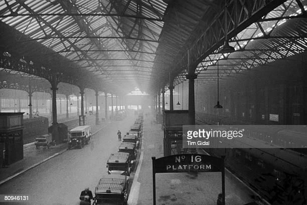 Platform 16 of London's Victoria Station 11th February 1939 Original Publication Picture Post 362 The Life Of A London Station pub 1939