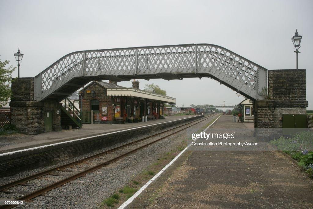 Platform and foot bridge at the preserved Metropolitan