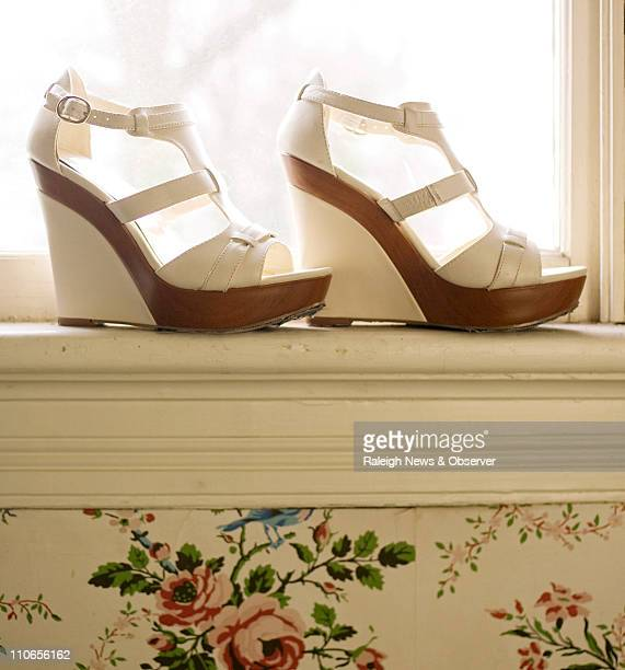 Platforms are cleaned up and made elegant Here INC Cameo sandals in bone $79 Macy's