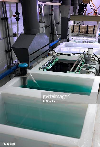 plating process - storage tank stock photos and pictures