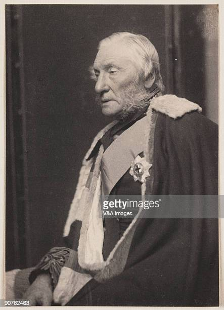 Platinum print photograph by Frederick Hollyer of Algernon, 6th Duke of Northumberland . The Duke served in the Army and as a Member of Parliament in...