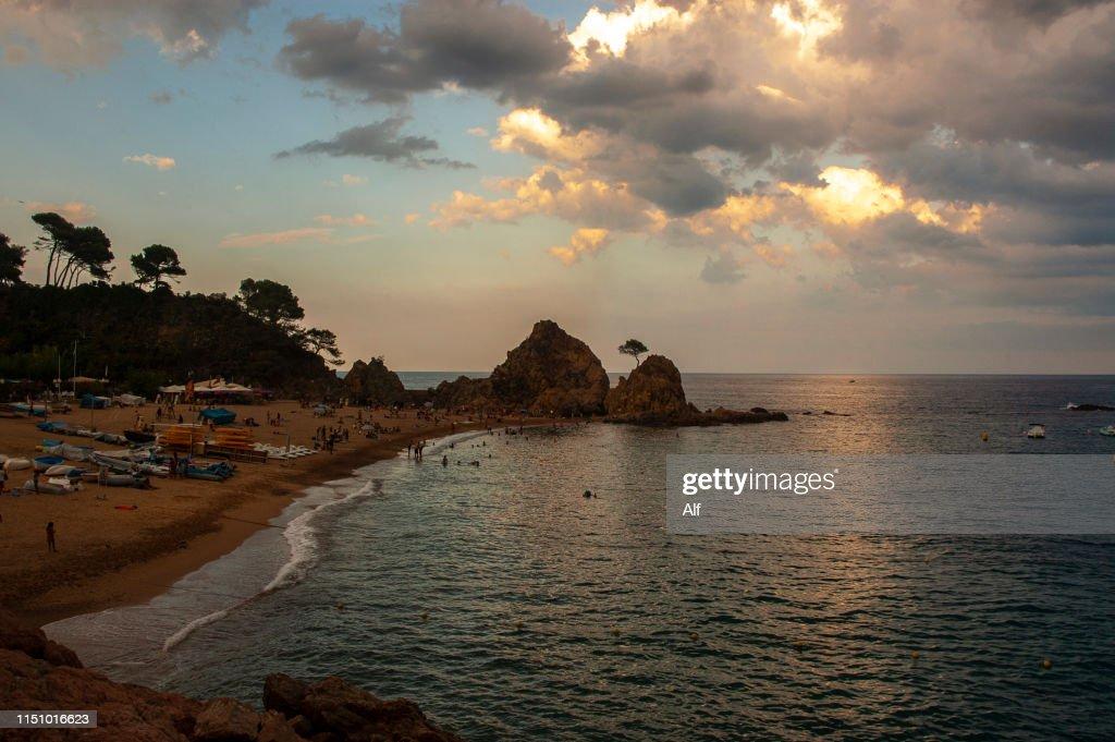 Platja De La Mar Menuda In Tossa De Mar Girona Spain High Res Stock Photo Getty Images