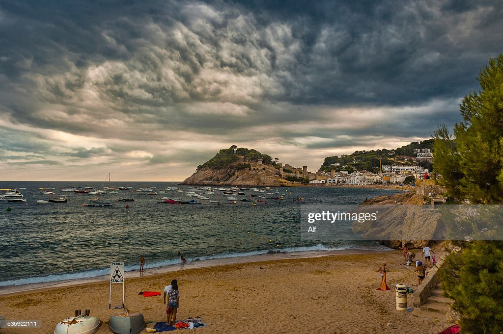 Platja de la Mar Menuda in Tossa del Mar : Stock Photo