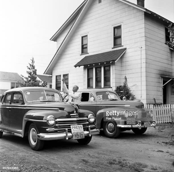 Platnick family among them US Army/Signal Corps photographer Ray Platnick upstate New York 1948