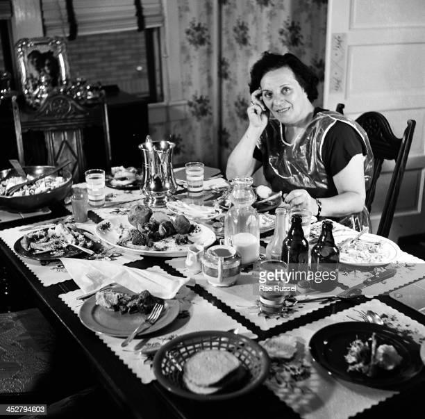 Platnick family among them US Army/Signal Corps photographer Ray Platnick piano dining 1948