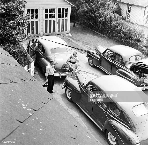Platnick family among them US Army/Signal Corps photographer Ray Platnick crime scene vintage cars 1948