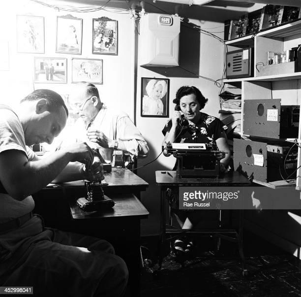Platnick family among them US Army/Signal Corps photographer Ray Platnick basement darkroom 1948