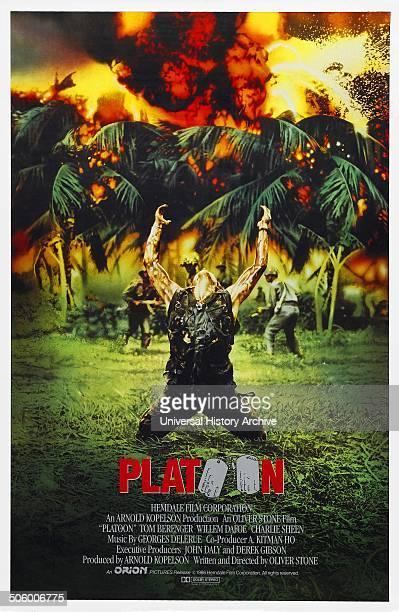 'Platoon' a 1986 American war film starring Tom Berenger Willem Dafoe and Charlie Sheen