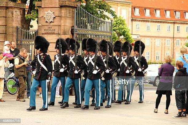 platoon of den kongelige livgarde / royal life guards - pejft stock pictures, royalty-free photos & images