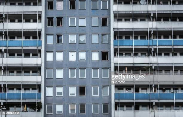 Plattenbau architecture in East Berlin Germany Photo taken 14 July 2015