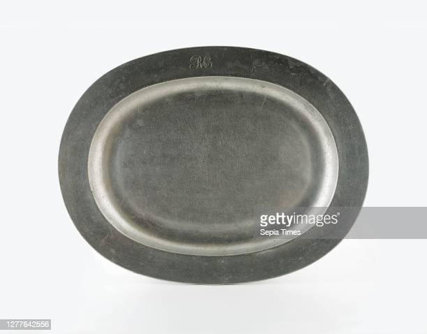 Platter, 1750/80, England, Pewter, 43.2 × 55.6 × 4.6 cm .
